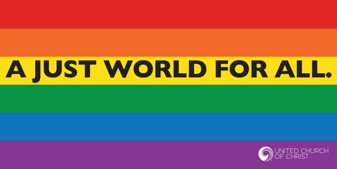Banner - Rainbow - A Just World for All