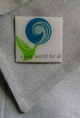 Lapel Pin - A Just World for All