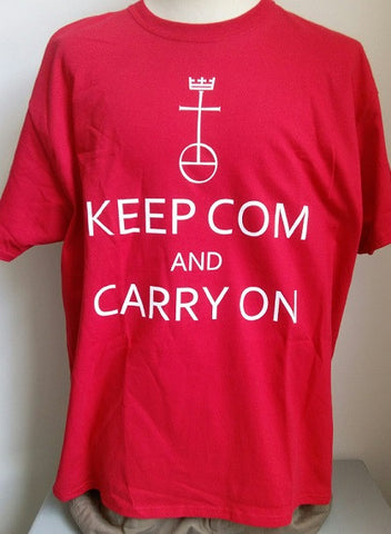 T-Shirt - Keep COM and Carry On