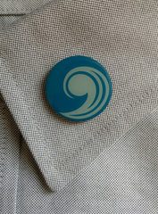 Lapel Pin - Blue Comma (New UCC Logo)