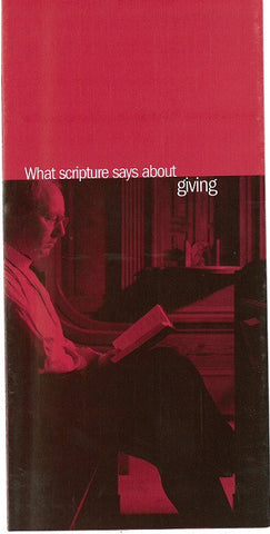 What Scripture Says About Giving - Pack of 50
