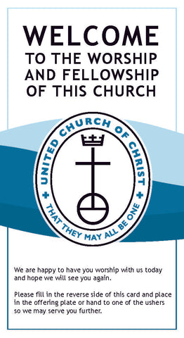 United Church of Christ Welcome (Visitors) Cards