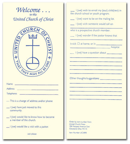 Welcome to the United Church of Christ Card