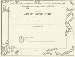 united church of christ membership certificates ucc resources
