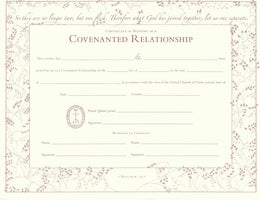 United Church Of Christ Blessing A Covenanted Relationship Certificate
