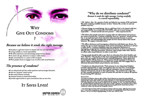 Why Give Out Condoms? Postcards and Poster