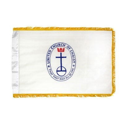 Flag - UCC - 4' x 6' - Nylon, Fringed, Indoor