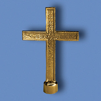 Flag Cross Ornament with Ferrule - for Indoor Flags