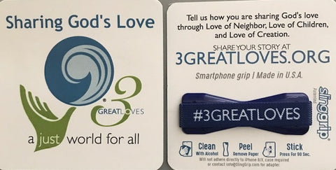 Phone Grips | 3 Great Loves - Pack of 5