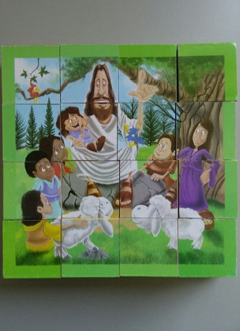 Bible Stories Wooden Cube Puzzle