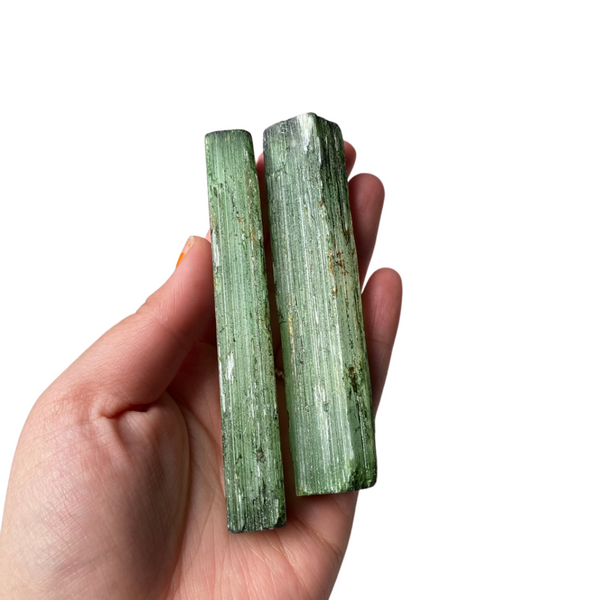 Selenite Rod - Black/Green
