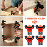 Go2Funlive Woodworking Right Angle Fixed Clip 90 Degree Holder Right Angle Clip Photo Frame Clip Diy Spring Clip G Word Clip Fast Clamp Red And Black Domestic Version Of A Set Of Four