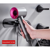 Go2Funlive Hair Dryer Holder Self Adhesive Wall Mount Hair Blow Bracket Rack Organizer Compatible With Dyson Supersonic Hair Dryer Accessories Bathroom Shelf Storage