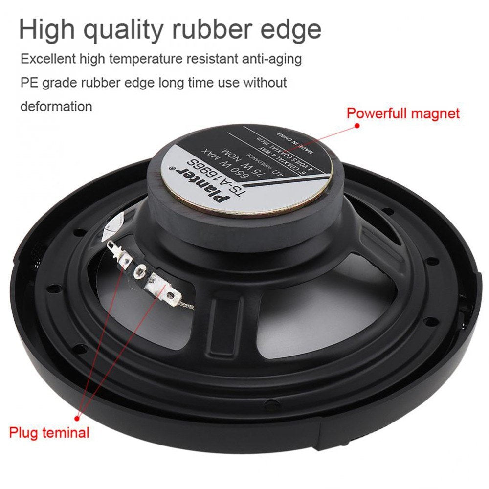 Go2Funlive 2Pcs 6 Inch 650W 4-Way Auto Car Hifi Coaxial Speaker Vehicle Door Auto Audio Music Stereo Full Range Frequency Speakers For Cars