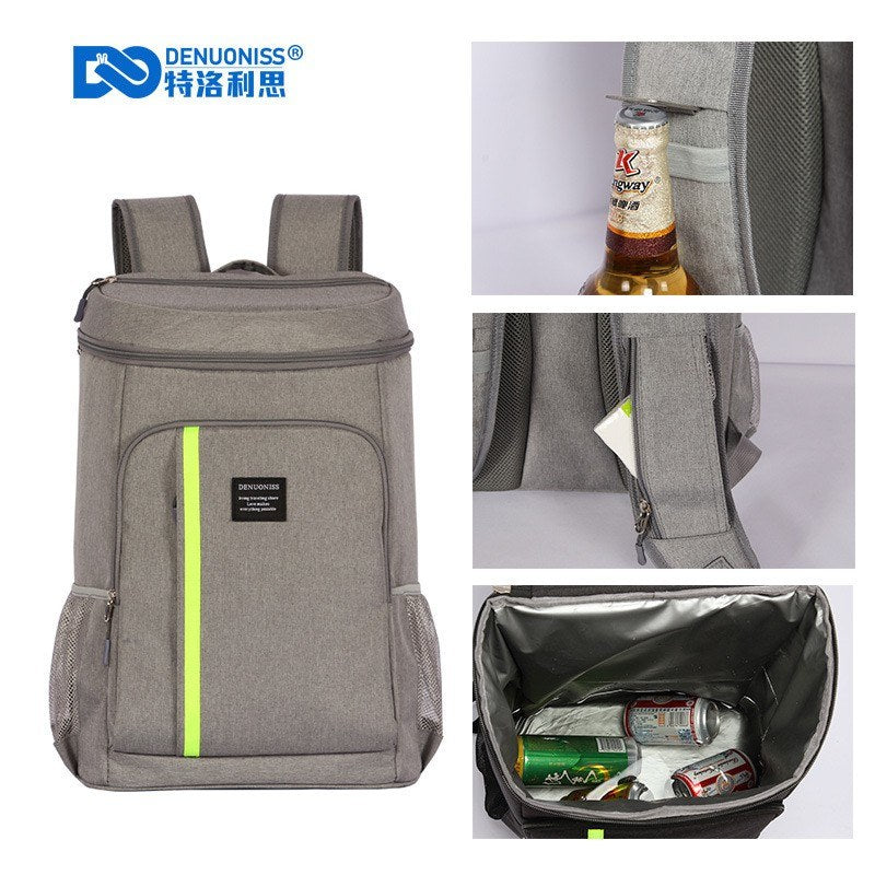Trophy ice pack beer ice pack shoulder picnic bag waterproof lunch bag EVA bulk insulation bag wholesale gray