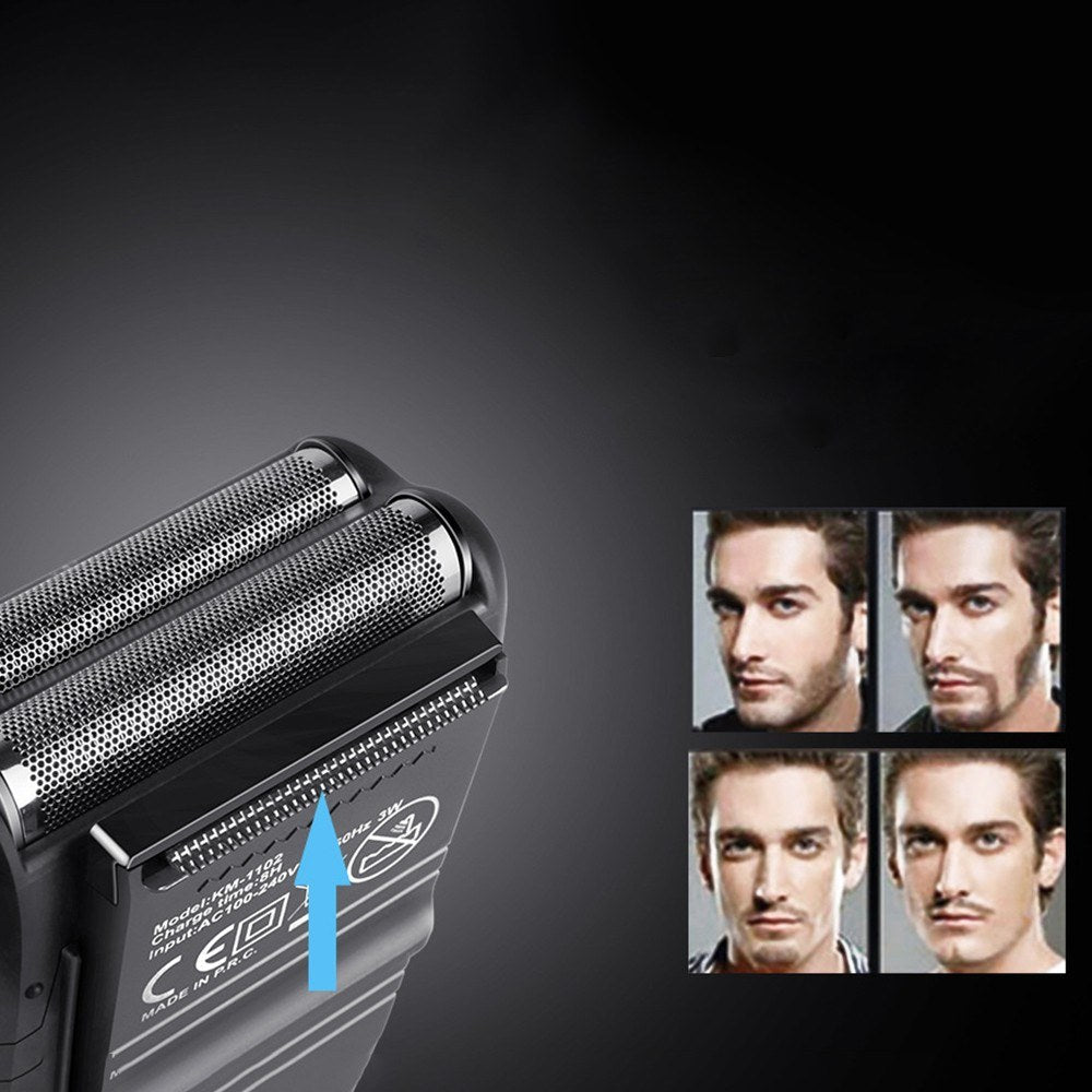 Go2Funlive Kemei Km-1102 3D Electric Shaver Men Electric Razor Rechargeable Floating Beard Shaver Hair Trimmer Face Care Shaving Machine