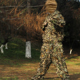 Mens 3D Tactic Sniper Clothes Lightweight Hooded Camouflage Ghillie Leaf Suit