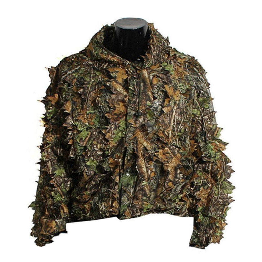 Go2Funlive Mens 3D Tactic Sniper Clothes Lightweight Hooded Camouflage Ghillie Leaf Suit