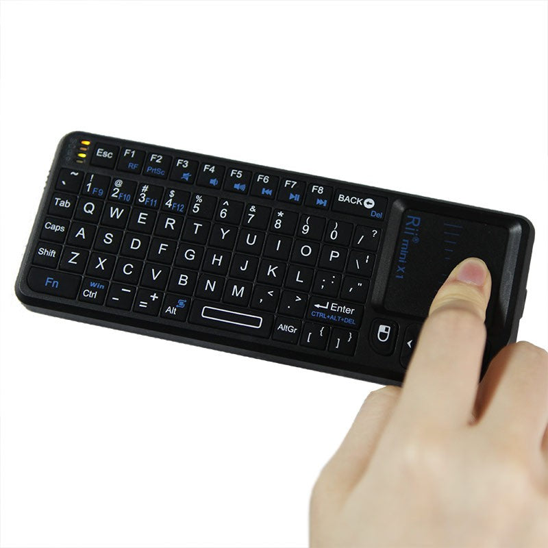 Go2Funlive Rii?Mini?X1 Handheld 2.4G Wireless Air Mouse Touchpad Gaming Keyboard For Phone Android Tv Box Pc Notebook