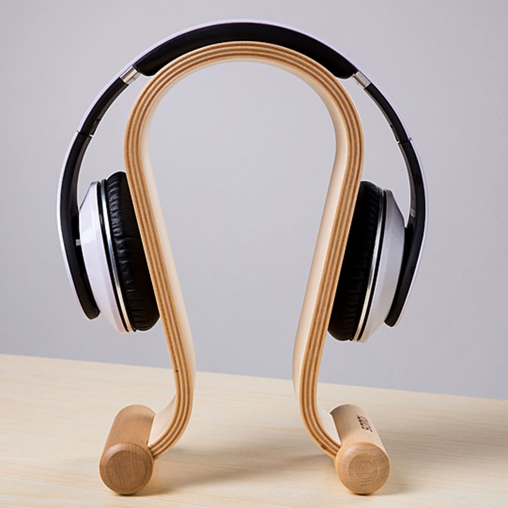 Go2Funlive Wooden Birch Wood Omega Headphone Gaming Headset Display Stand Holder Hanger
