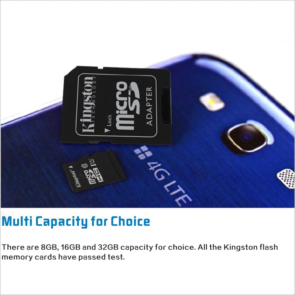 Go2Funlive Kingston Class 10 8Gb 16Gb 32Gb 64Gb Microsd Tf Flash Memory Card 48Mb/S Maximal Speed With Card Adapter