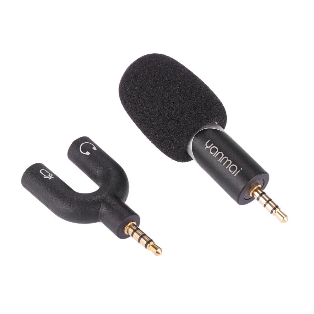 Go2Funlive Yanmai 90 Degree Rotatable Mini Uni-Directional Condenser Microphone Sound Recording Recorder Mic For Iphone/Ipad/Ipod/Android Smartphone