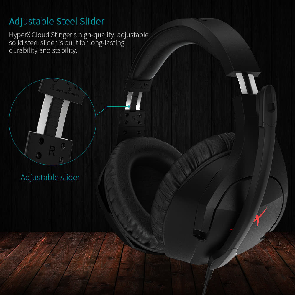 Go2Funlive Kingston Hyperx Cloud Stinger Gaming Headset Esport Stereo Headphone Earphone Over Ear For Pc/Xbox One/Ps4/Wii U Hx-Hscs-Bk/As