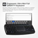 Go2Funlive 2.4G Mini Wireless Touchpad Keyboard Handheld Remote Control Keyboard With Usb Receiver For Android Smart Tv Laptop