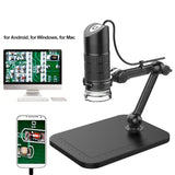 Go2Funlive Portable Usb2.0 Digital Microscope 1000X Electronic Endoscope 8 Led 2 Million Pixels Practic Magnifier Microscope Camera Black