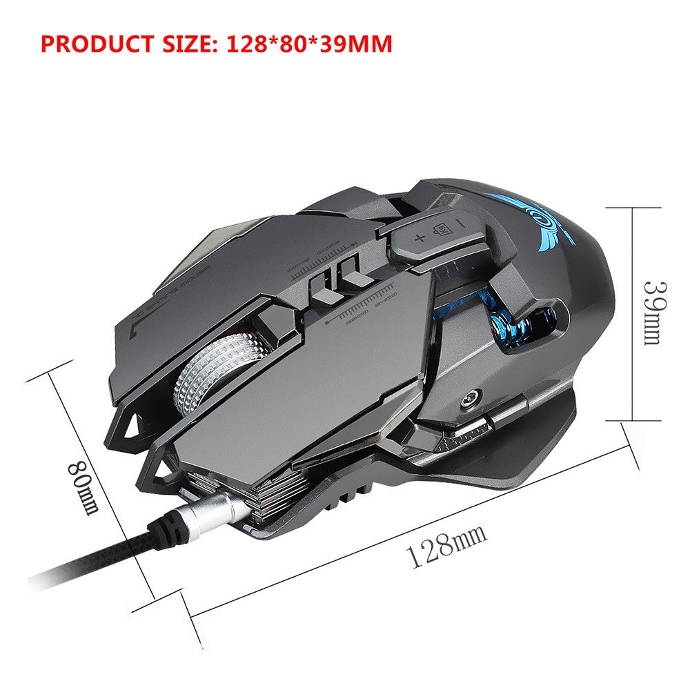 Go2Funlive Zerodate X300Gy Usb Wired Competitive Mechanical Gaming Mouse 7 Programmable Buttons