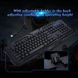 Go2Funlive Gaming Keyboard Laser Carving Characters Keyboard Wired Backlit Keyboard Ergonomic Keyboard Switchable Crack Backlit
