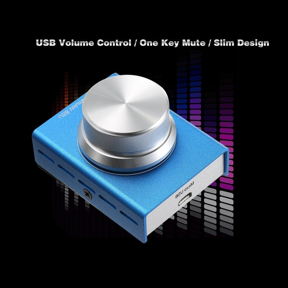 Go2Funlive Usb Volume Control Computer Speaker Audio Volume Controller Adjuster With One Key Mute Function