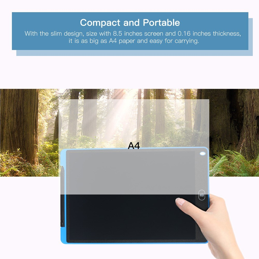 Go2Funlive 12 Inch Lcd Writing Tablet Graphic Drawing Board Portable Ultra-Thin Slim Design New Electronic Graffiti Painting Caculus Notepad Environmentally Friendly And Eye Protection For Kids (Blue)
