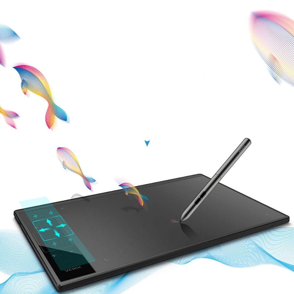 Go2Funlive Veikk A30 Digital Graphics Drawing Tablet 10*6 Inch Pen Tablet With 8192 Levels Passive Pen For Left/Right Hand Smart Gesture Touch With 4 Touch Keys