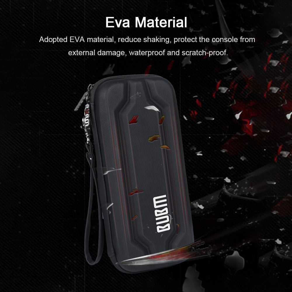 BUBM EVA Hard Shell Portable Storage Bag Protective Hard Case HandBags With Stand Function Digital Protection Case For Switch Game Console With 10 Card Slots Waterproof Shockproof