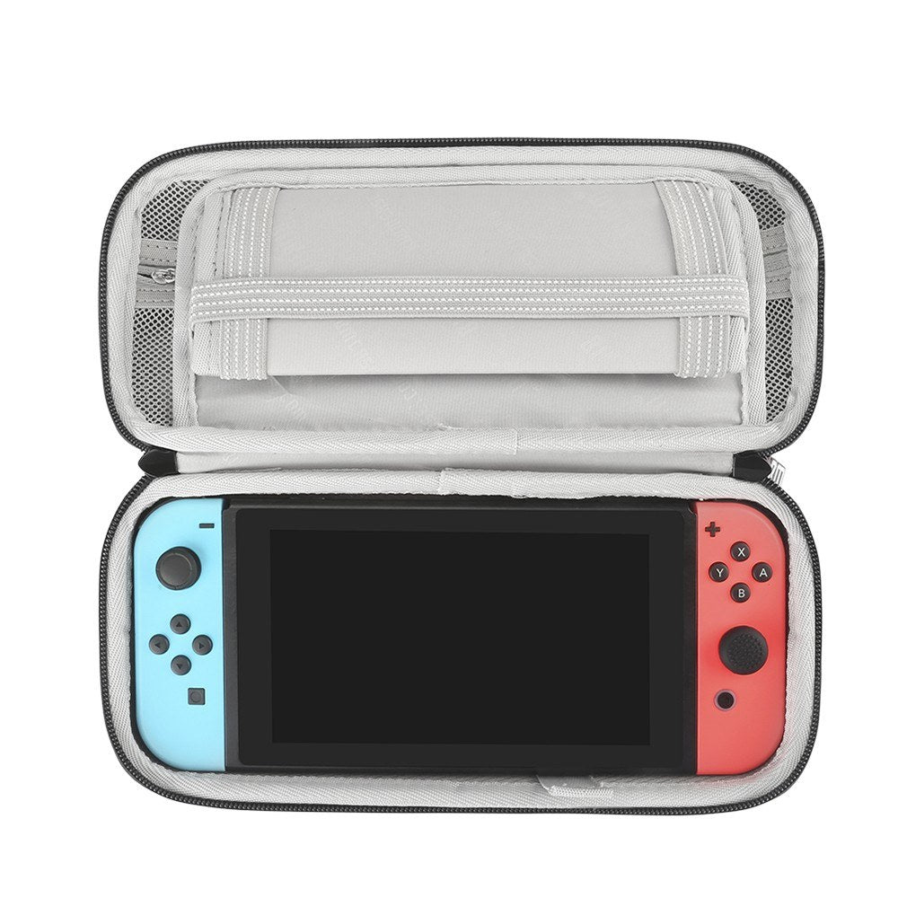 Go2Funlive Bubm Eva Hard Shell Portable Storage Bag Protective Hard Case Handbags With Stand Function Digital Protection Case For Switch Game Console With 10 Card Slots Waterproof Shockproof