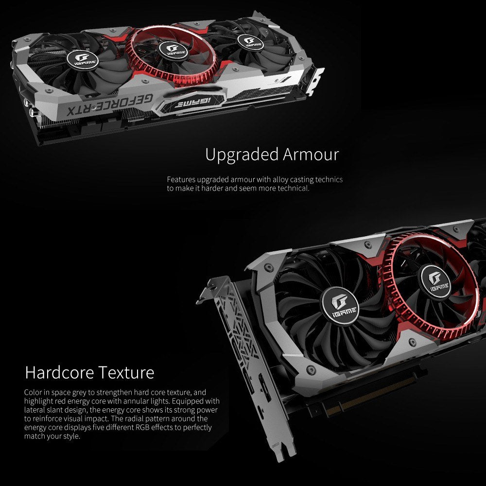 Go2Funlive Colorful Igame Geforce Rtx 2080 Ti Graphic Card Advanced Oc 1635Mhz Gddr6 11G 1635Mhz