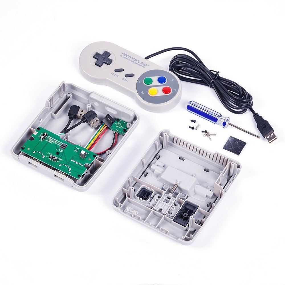 Go2Funlive Retroflag Superpi Case Deluxe Edition Safe Shutdown Switch With Cabled Gamepad Compatible With Raspberry Pi 2 3 And B+