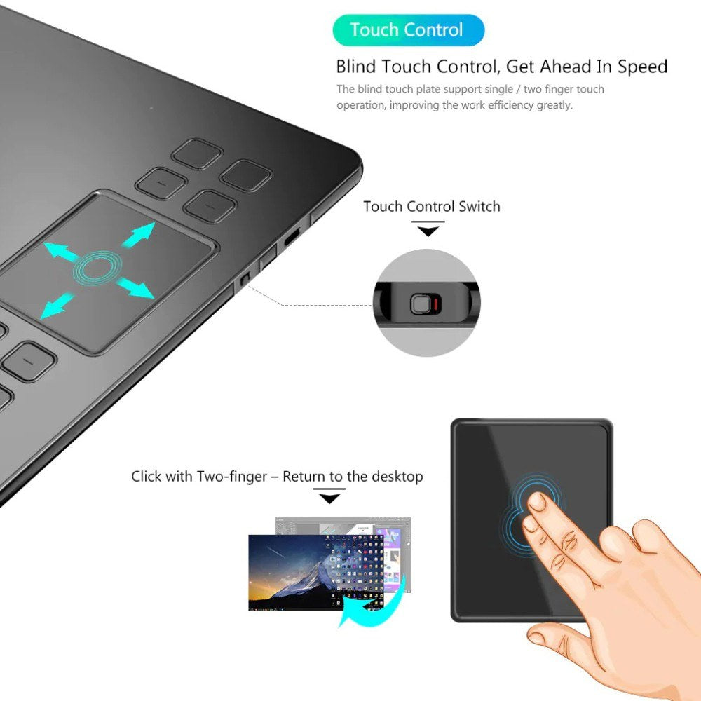 Go2Funlive Veikk A50 Pen Tablet Drawing Board Handwriting Board Electronic 0.9Cm Ultra-Thin
