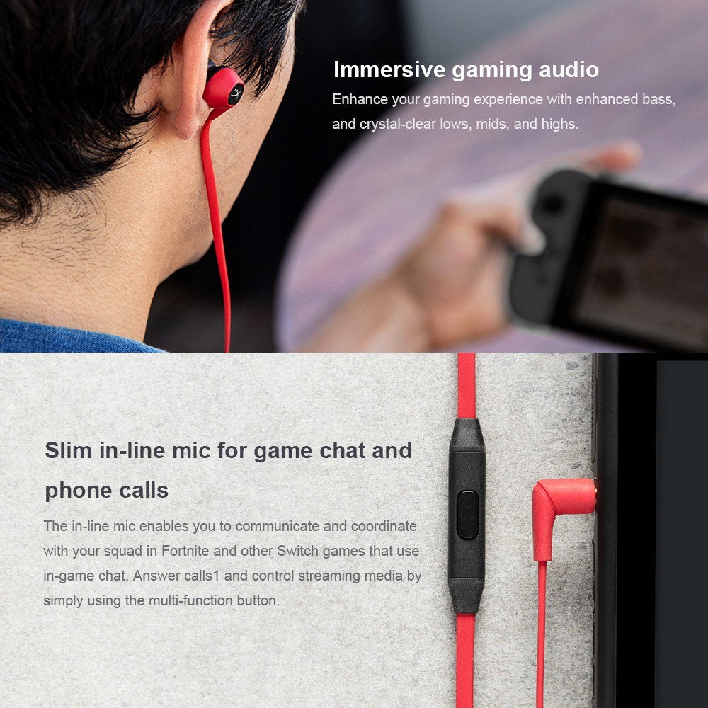 Kingston HyperX Cloud Earbuds Gaming Headset Portable Earphone with Microphone Immersive in Game