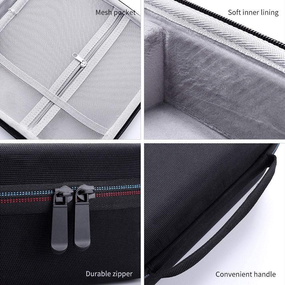 Go2Funlive External Hard Drive Disk Case Eva Case For 3.5In Hdd With Mesh Pocket And Soft Inner Fabric Carrying Case For Travel And Office Use