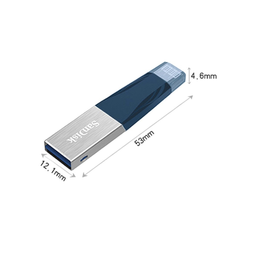 SanDisk USB Flash Drive iXPand OTG Lightning Connector U Disk USB 3.0 Stick 128GB