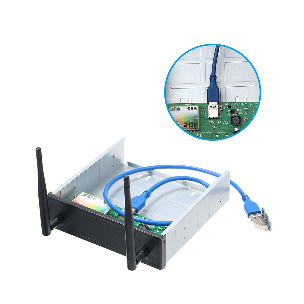 USB 3.0 Pre-Drive Wireless Network Card CD-ROM Expansion Mobile Rack with  600Mbps High Speed Support Dual Band