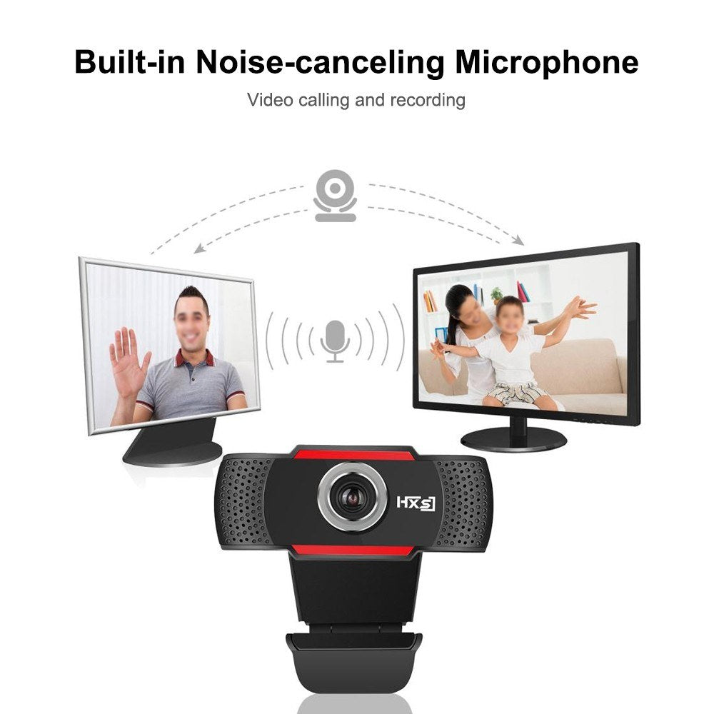 HXSJ Web Camera Computer Laptop Camera 1080P HD for Conference Video Call Live Streaming Noise-canceling Manual Zoom