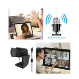 Go2Funlive Hxsj Web Camera Computer Laptop Camera 1080P Hd For Conference Video Call Live Streaming Noise-Canceling Manual Zoom