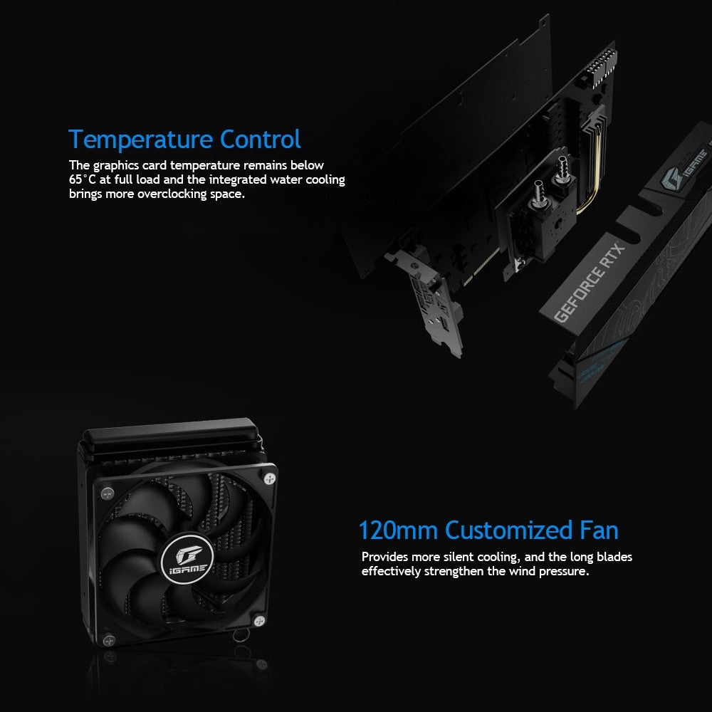Go2Funlive Colorful Igame Geforce Rtx 2060 Super Neptune Lite Oc Gddr6 8G Graphic Card Gpu One-Key Overclock Rgb With 120Mm Customized Fan