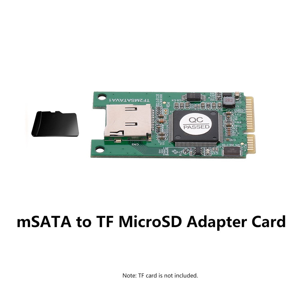 Go2Funlive Msata To Tf Microsd Adapter Cards Laptops Converter For Windows Me/2000/Xp/Vista/7/8/10 And Mac Os