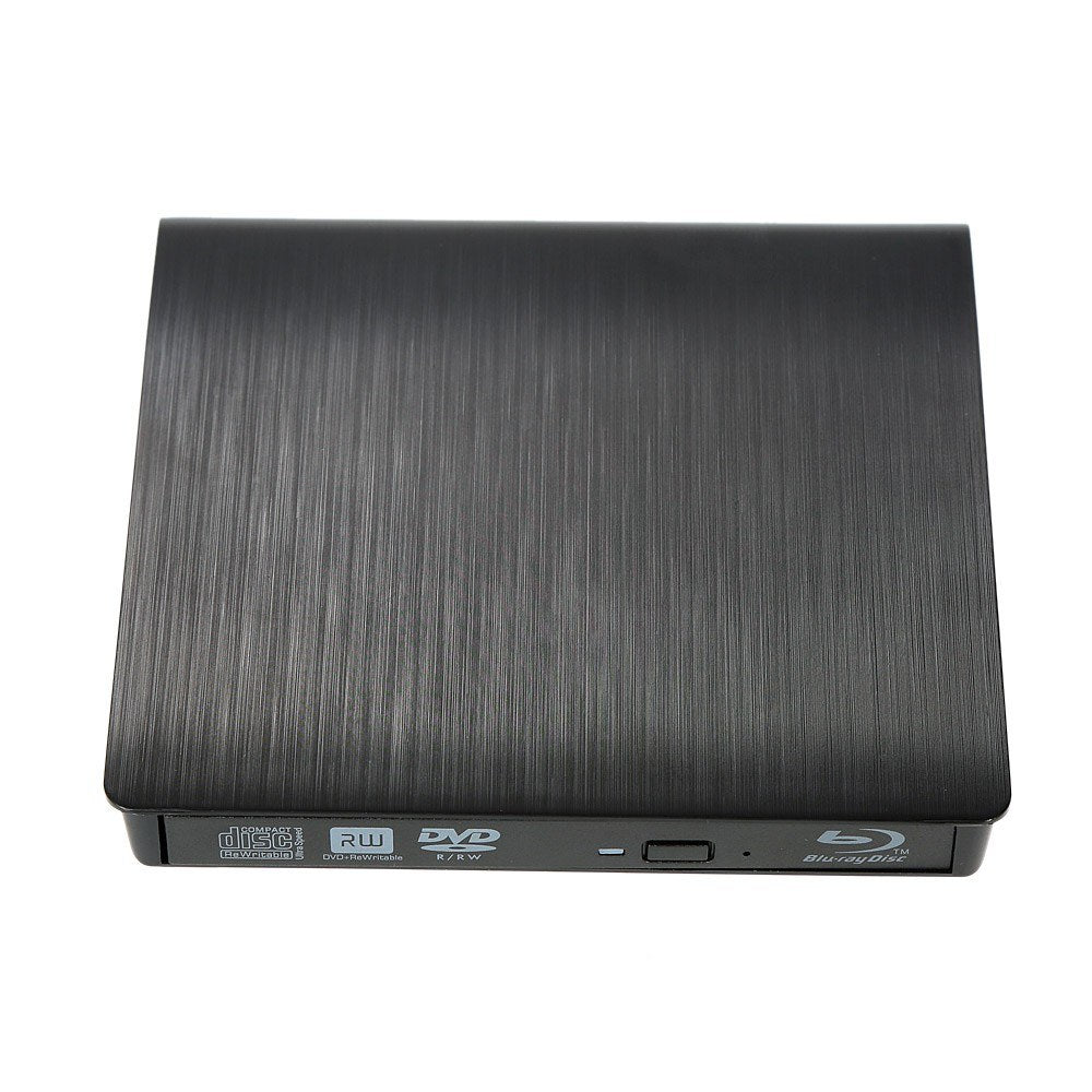 Go2Funlive Ultra Slim External Drive Dvd-Rw Usb 3.0 Burner Writer Bd-Rom 3D Blu-Ray Player For Linux Windows Mac Os Black