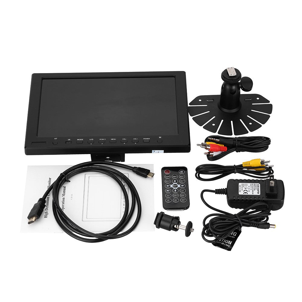 Go2Funlive M1010 Tft- Lcd 10.1 Inch Ips Assit Focus Af On-Camera High Resolution 1280*800 Ultra Hd Monitor With Hdmi Vga Video Audio Input For Video Dslr Camera With Remote Controller