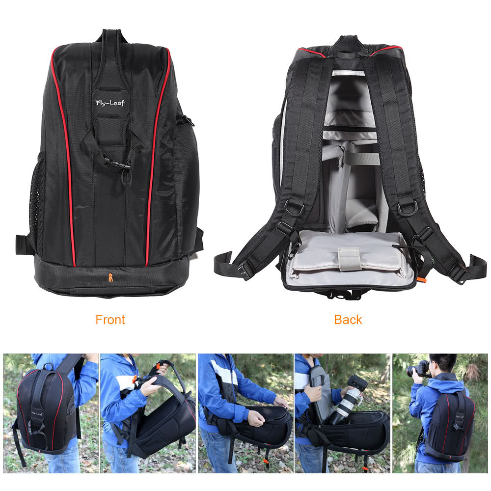 Camera Lens Black Photography Padded Shockproof Water-resistant Backpack Bag Case for Nikon Canon Sony DSLR Camera Accessories